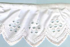 Picot Broderie Lace - Gathered