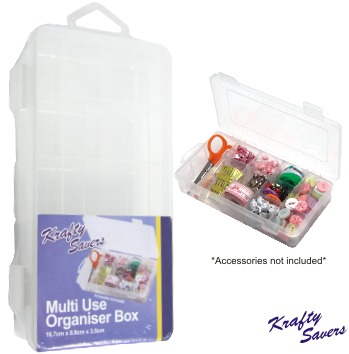 Multi Use Organiser Box (15 Cavity) - Small