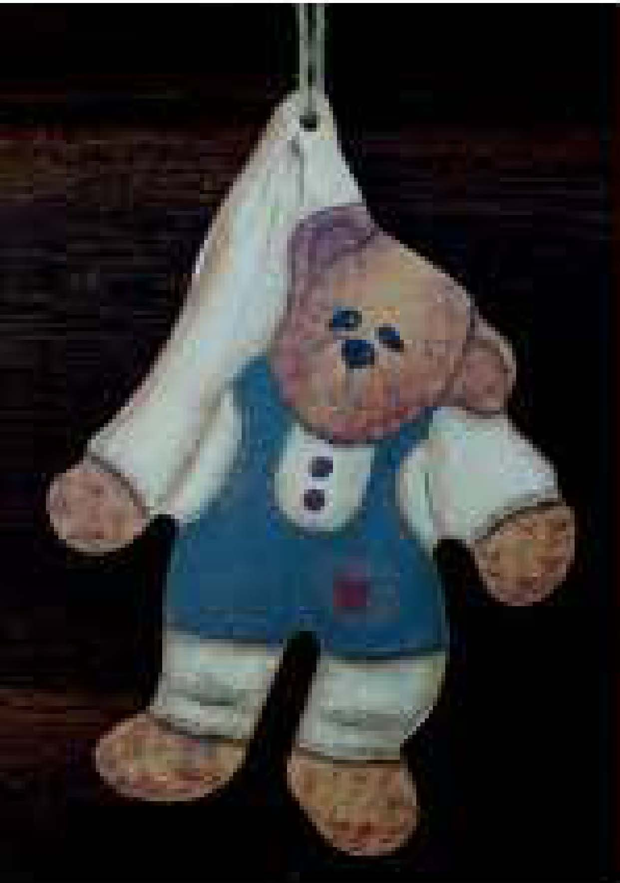 Wooden Doll - Hanging Bear