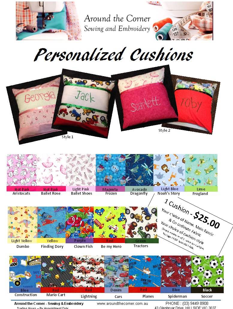 Personalized Cushions - Style 1
