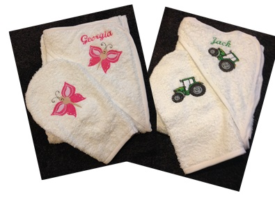 Personalized Baby Towel Sets - Style 1