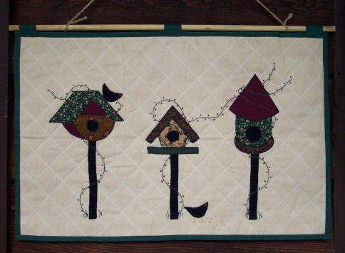 Wall Hanging - 3 Birdhouses